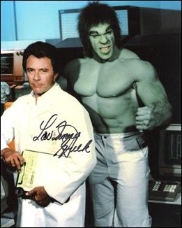 Bill Bixby y Lou Ferrigno, Bruce Banner y El Increíble Hulk en tv
