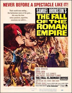 Cartel americano de La caída del imperio romano