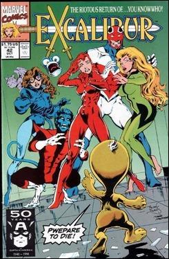 El primer  número de Excalibur escrito por Alan Davis... y su genial villano