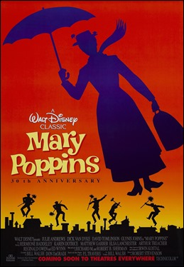 Excelente cartel de Mary Poppiins