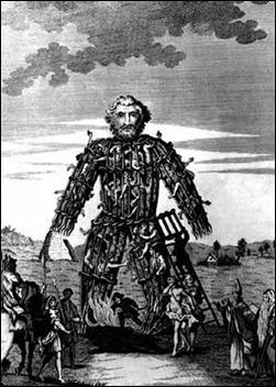 El hombre de  mimbre de los cultos druídicos