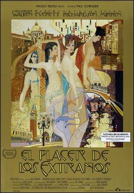 Estupendo cartel español de El placer de los extraños