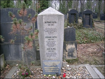 La tumba de Kafka en el cementerio de Praga