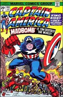 Mítica portada del Capitán América, con dibujo de Kirby y entintado de Romita