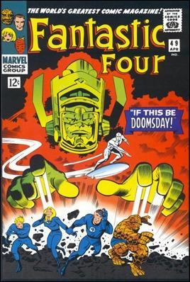 Una de las más recordadas aventuras de los 4F, contra Galactus