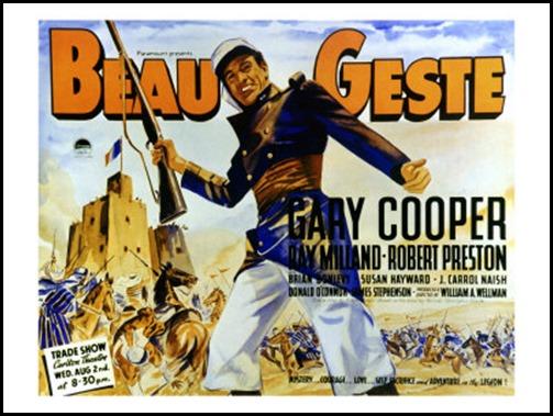 Estupendo cartel de Beau Geste
