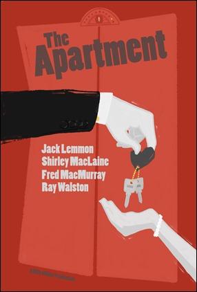 Excelente y poco conocido poster de El apartamento