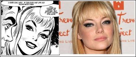 Gwen Stacy, por John Romita y por Emma Stone