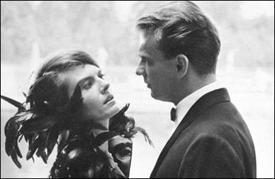 La pareja protagonista, Delphine Seyrig y Giorgio Albertazzi