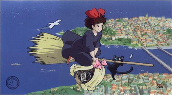 Nicky volando en compañía de Jiji