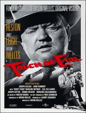 Cartel de Sed de mal, centrado en Orson Welles