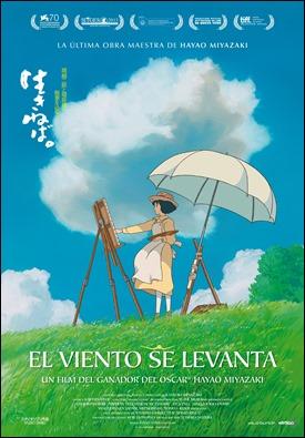 Cartel español de El viento se levanta