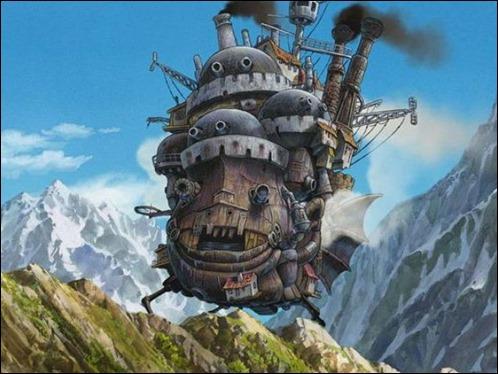 El estupendo castillo de Howl en movimiento