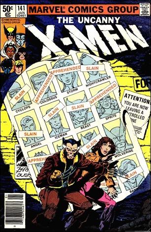 Portada del 141 de The Uncanny X-Men, Días del Futuro Pasado