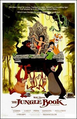 Cartel americano de El libro de la selva