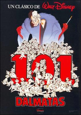 Cartel español de 101 dálmatas