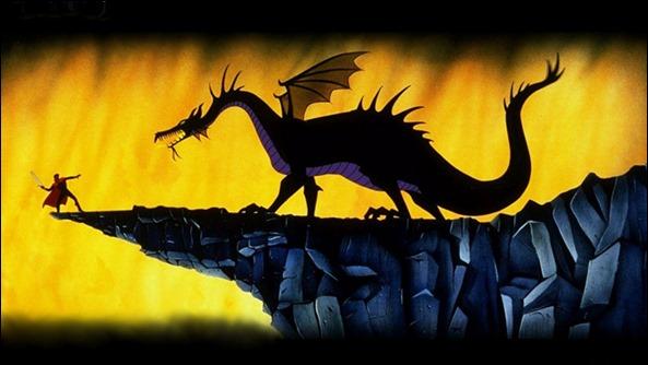 El príncipe contra el dragón, en La Bella Durmiente, de Disney