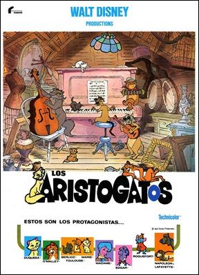 Estupendo poster de Los Aristogatos, con los gatos-jazz
