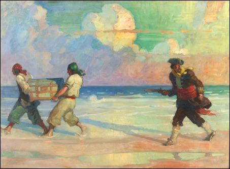 Ilustración pirática de N. C. Wyeth