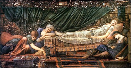 La bella durmiente, por Burne-Jones