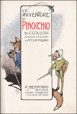 Pinocho de Collodi, dibujado por Attilio Mussino