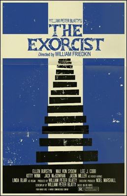 Poster alternativo de El exorcista, centrado en la calle M