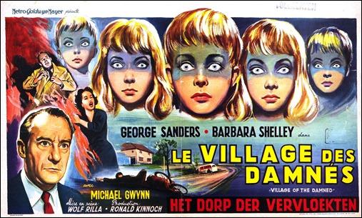 Poster francés de El pueblo de los malditos, de Wolf Rilla