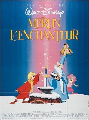 Poster francés de Merlín el encantador