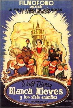Póster del estreno español de Blancanieves y los siete enanitos