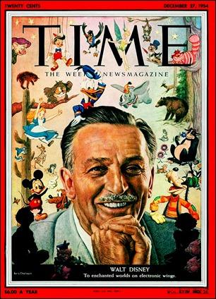 Walt Disney en la portada de Time