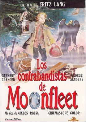 Los contrabandistas de Moonfleet, cartel del estreno español de los años 80