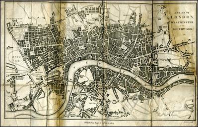 Mapa de Londres, la Bagdad de Occidente, en el siglo XIX