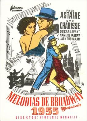 Cartel español de Melodías de Broadway 1955