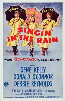Cartel USA de Cantando bajo la lluvia