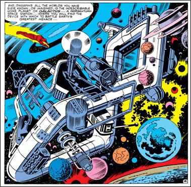 El mítico hogar de Galactus, visto en Fantastic Four #49