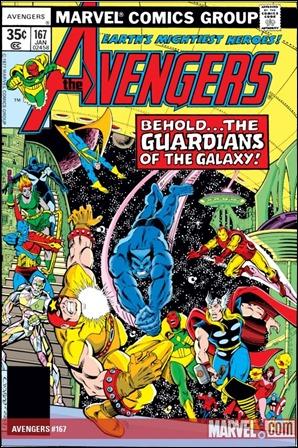 El retorno de los Guardianes, en Los Vengadores # 167