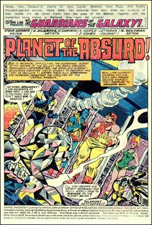 Primera página del numero 5 de Guardianes de la Galaxia