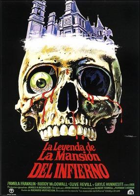 Increíble cartel español de La leyenda de la mansión del infierno