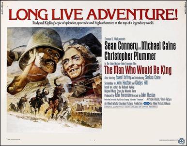 El hombre que pudo reinar, John Huston adapta a Kipling