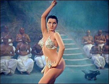 La bailarina Seeta, o sea, Debra Paget, en El tigre de Esnapur