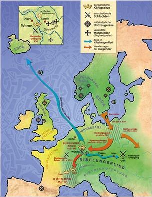 Mapa literario de las leyendas medievales