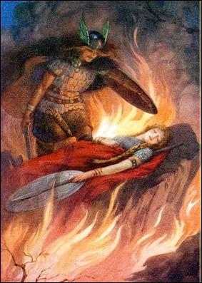 Sigurd y Brunilda, por Harry George Theaker (1920)