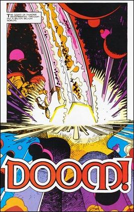 Surtur forja la espada Crepúsculo. Doom!