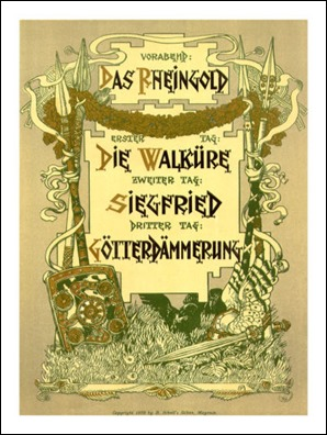 Cartel de la tetralogía de Wagner
