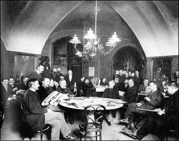 El famoso Café Griensteidl de Viena, hacia 1897