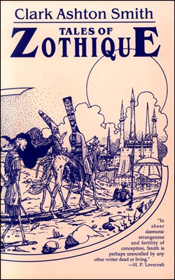 Estupenda portada de una edición inglesa de los cuentos de Zothique