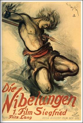 La muerte de Sigfrido, en un cartel alemán