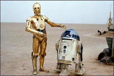 Los celebérrimos C3PO y R2 D2, los robots de Star Wars