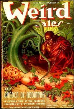 Portada de la revista Weird Tales con uno de los relatos del ciclo de Zothique. Ilustración de Virgil Finlay