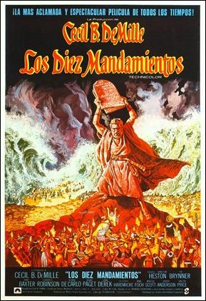 Cartel español de Los diez mandamientos